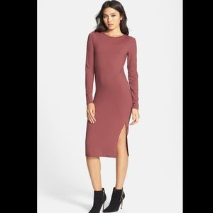 Leith Nordstrom long sleeve midi dress